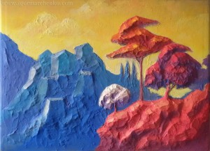 Sunset_relief_acrylic
