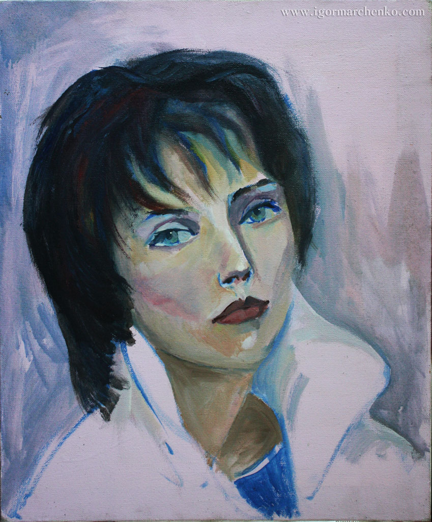 portrait_Julia_canvas_acrylic
